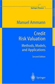 Cover of: Credit risk valuation