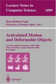 Cover of: Articulated Motion and Deformable Objects |