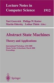 Cover of: Abstract state machines |