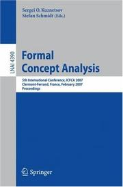 Cover of: Formal Concept Analysis |
