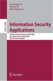 Cover of: Information Security Applications |