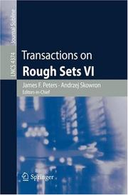 Cover of: Transactions on Rough Sets VI |
