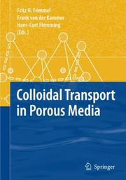 Cover of: Colloidal Transport in Porous Media |