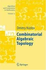 Combinatorial Algebraic Topology (Algorithms and Computation in Mathematics) by Dmitry Kozlov