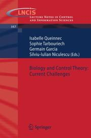 Cover of: Biology and Control Theory |
