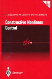 Cover of: Constructive nonlinear control