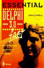 Cover of: Essential Delphi 3 fast | Cowell, John