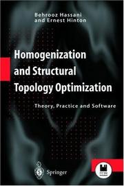 Homogenization and Structural Topology Optimization by Behrooz Hassani, Ernest Hinton
