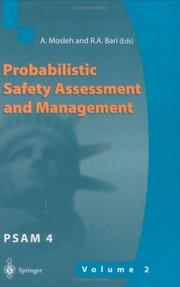 Cover of: Probabilistic Safety Assessment and Management, Psam 4 |
