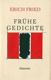 Cover of: Frühe Gedichte