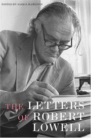 Cover of: The Letters of Robert Lowell |
