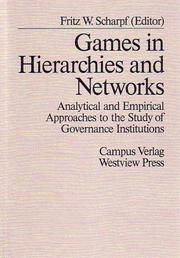 Cover of: Games in hierarchies and networks |