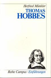 Cover of: Thomas Hobbes