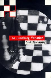 Cover of: The Lüneburg variation | Paolo Maurensig