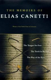 Cover of: memoirs of Elias Canetti. | Elias Canetti