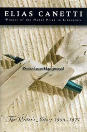 Cover of: Notes from Hampstead