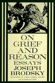 Cover of: On Grief and Reason: Essays