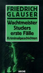 Cover of: Wachtmeister Studer: Kriminalroman.