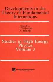 Cover of: Developments in the theory of fundamental interactions | Winter School of Theoretical Physics (17th 1980 Karpacz, Poland)