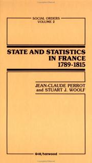 Cover of: State and statistics in France, 1789-1815