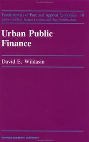 Cover of: Urban public finance