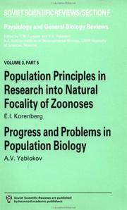 Cover of: Population Principles in Research into Natural Focality of Zoonoses