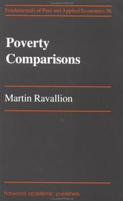 Cover of: Poverty Comparisons