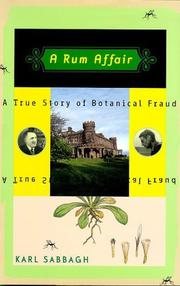 Cover of: A Rum Affair | Karl Sabbagh