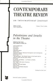 Cover of: Palestinians and Israelis in the Theatre