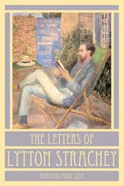 Cover of: The letters of Lytton Strachey