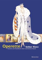 Cover of: Operette