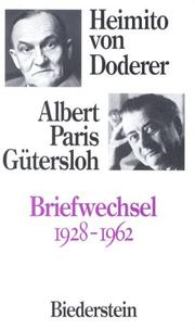 Cover of: Briefwechsel, 1928-1962