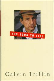 Cover of: Too soon to tell