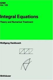 Cover of: Integral equations