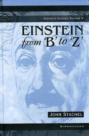 "Cover of: Einstein from ""B"" to ""Z"" 