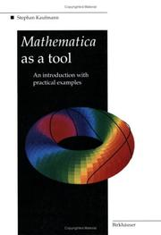 Cover of: Mathematica as a tool