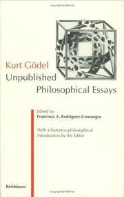 Cover of: Kurt Gödel | Francisco A. Rodriguez-Consuegra