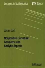 Cover of: Nonpositive curvature