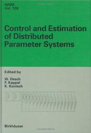 Cover of: Control and estimation of distributed parameter systems |