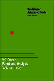 Cover of: Functional Analysis