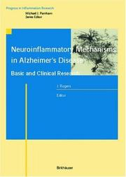 Cover of: Neuroinflammatory Mechanisms in Alzheimer's Disease