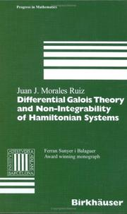 Cover of: Differential Galois theory and non-integrability of Hamiltonian systems