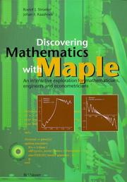 Cover of: Discovering mathematics with Maple