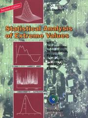 Cover of: Statistical analysis of extreme values