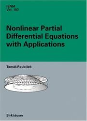 Cover of: Nonlinear partial differential equations with applications | TomaМЃsМЊ RoubicМЊek