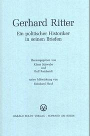 Cover of: Gerhard Ritter