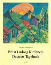 Cover of: Ernst Ludwig Kirchners Davoser Tagebuch
