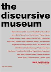 Cover of: Discursive Museum, The | Boris Groys