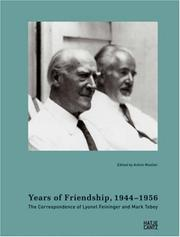 Cover of: Years of friendship, 1944-1956