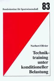 Cover of: Techniktraining unter konditioneller Belastung